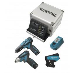 Makita DK1493X1 Kit Avvitatore + Trapano con percussione + 2 batterie