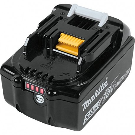 Batteria Makita 18V 5,0Ah mod. BL1850B ORIGINALE con indicatore di carica.