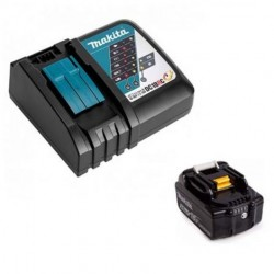 KIT ENERGY MAKITA 191A24-4 COMPOSTO DA: 1 BATTERIA 18 V 3,0 Ah BL1830B + DC18RC