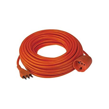 Prolunga in plastica Brennenstuhl 16A 25m rosso H05VV-F 3G1,5