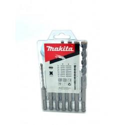 MAKITA SET KIT da 7 pezzi PUNTE SDS 4 PLUS a 2 TAGLIENTI per Muro e Cemento codice K931