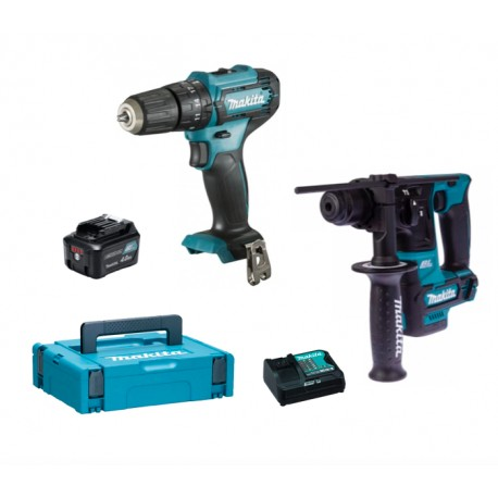 Makita HR166DSAE1 Tassellatore SDS-PLUS 10,8V. 2,0Ah.+ 66 accessori