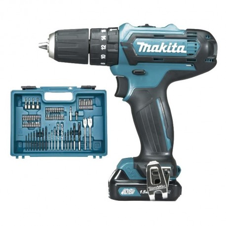 Makita HP331DSAX1 trapano 10,8V.con 74 accessori+percuss.