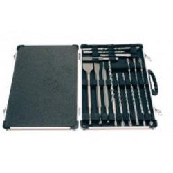 Makita D-21200 Kit 12 punte+5 scalpelli sds-plus in valigetta totale 17 pezzi