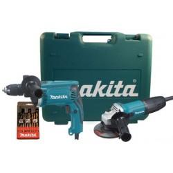DK1154 KIT Makita composto da smerigliatrice D.115 mod.GA4530+trapano mod.HP1631